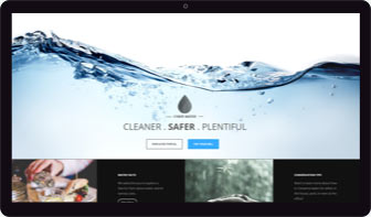 Virtual environment - Water company public website